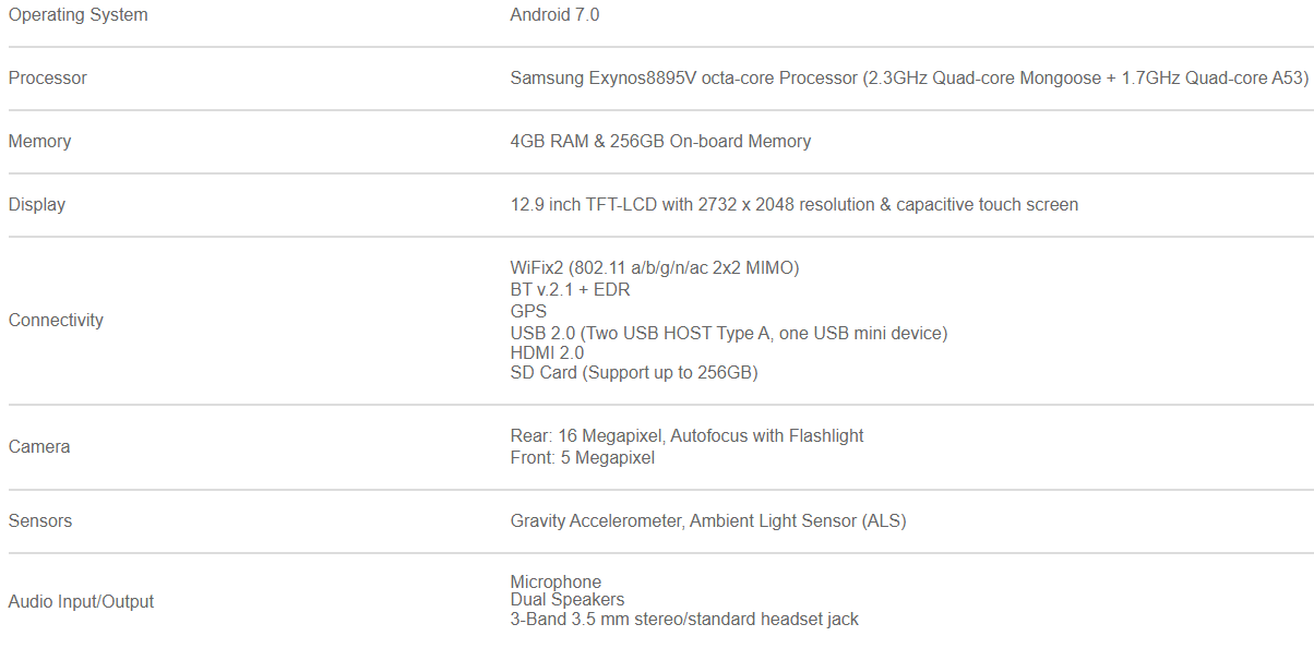 MaxiSys Ultra Specifications
