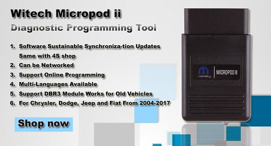 New Chrysler Witech Micropod Ii Vci With V17 04 27 -2